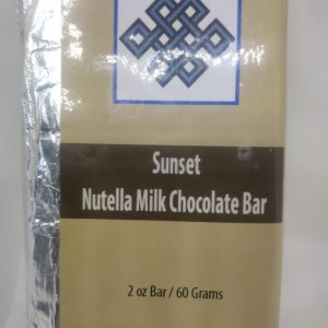 Gourmet Milk Chocolate & Hazelnut Bar by Sunset (DOUBLE Infused)
